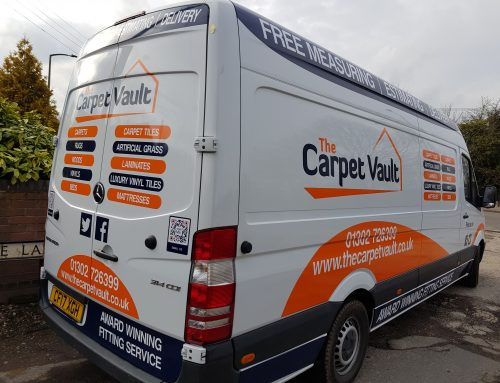 AJ Signs & Graphics Deliver Carpet Vault Van Signage