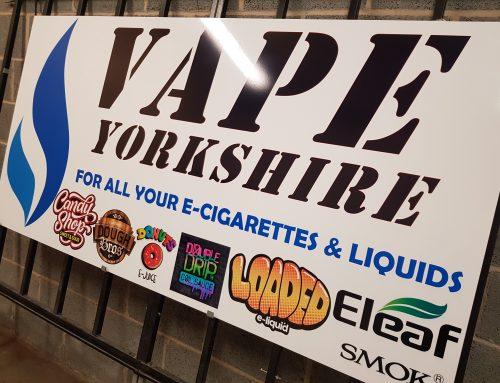 Aluminium Signage for Yorkshire Vape Company